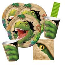40-teiliges Party-Set Dinosaurier - Dino - Alarm - Teller...