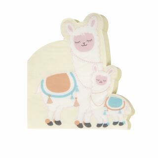40-teiliges Party Set Baby-Party - Lama Love - Teller, Becher, Servietten Trinkhalme für 8 Personen