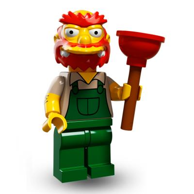 Serie 71009 Lego Simpsons 2 Minifigur  Nr.13 Hausmeister Willie