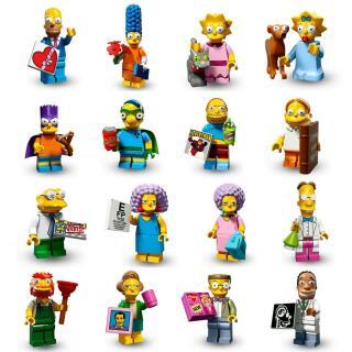 Serie 71009 Lego Simpsons 2 Komplettsatz - alle 16 Minifiguren