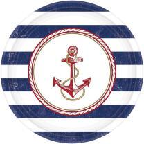 68-teiliges Party-Set maritim - Moin - Teller Becher...