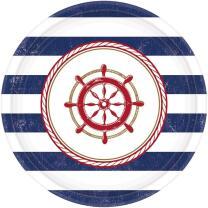 Pappteller maritim Anker auf! Anchors Aweigh -  8...