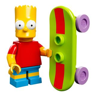 Serie 71005 Lego Simpsons 1 Minifigur  Nr. 2 Bart  Simpson