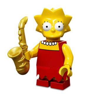 Serie 71005 Lego Simpsons 1 Minifigur  Nr. 4 Lisa Simpson