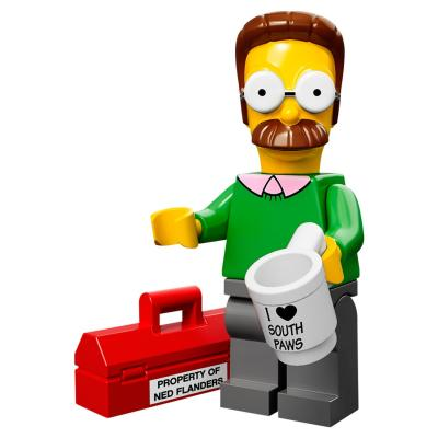 Serie 71005 Lego Simpsons 1 Minifigur  Nr. 7 Ned Flanders