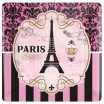 Paris - Frankreich - Pappteller klein, 8 Stück,...