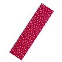 8 Papiertrinkhalme pink-weiß  gepunktet