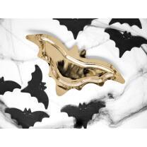 Pappteller  Fledermaus goldfarben - Halloween - 6 Stück