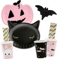 56-teiliges Party-Set Halloween Kürbis Katze...