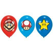 """Super Mario  Luftballons 11"""" - 27,5 cm, 6 Stück"""