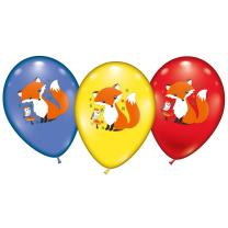 Fuchs - Luftballons, 6 Stück