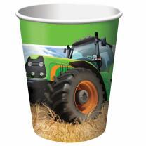 Traktor  -  Papbechler, 8 Stück 0,25 l