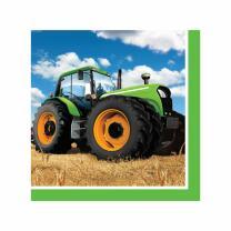 Traktor  - Servietten, 16 Stück 33 x 33 cm