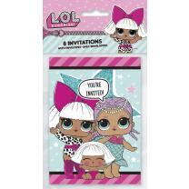 L.O.L. Surprise - Einladungskarten mit Umschlag, 8...