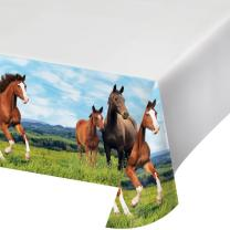 Pferde -Tischdecke 137 x 259 cm
