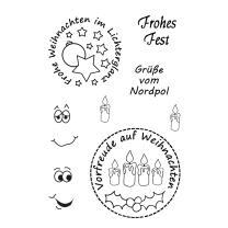 Efco (921) clear stamps Stempel Set - Frohes Fest 2 -...