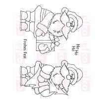 Efco (923) clear stamps Stempel Set - Weihnachtsmann -...