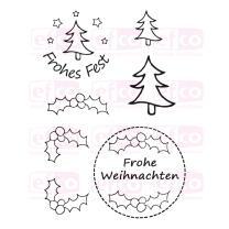 Efco (926) clear stamps Stempel Set - Frohes Fest 3 -...