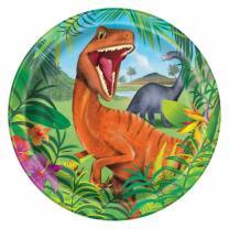 unique Dinosaurier - Pappteller, 8 Stück 23 cm