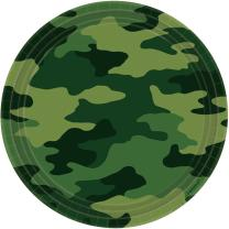 Camouflage - 8 Pappteller 23 cm