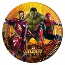 Avengers Infinity War - 8 Pappteller 23 cm