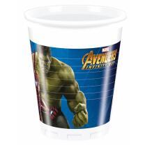 Avengers Infinity War - 8 Becher, Plastik, 0,2 l