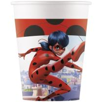 Miraculous Ladybug (procos)  - 8 Becher - Pappbecher 0,2 l