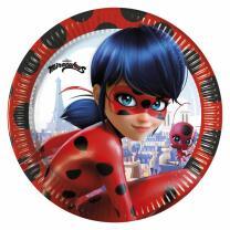 80-teiliges Party-Set Miraculous Ladybug - Teller Becher...