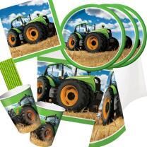 41-teiliges Party-Set Traktor - Teller Becher Servietten...