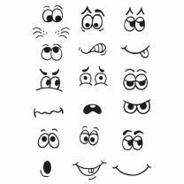 Efco (927) clear stamps Stempel Set - Gesichter