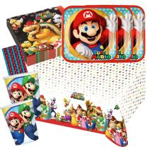 45-teiliges Party-Set Super Mario - Teller Becher...