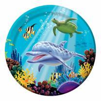 Ozean - Meerestiere - Pappteller 23 cm, 8 Stück