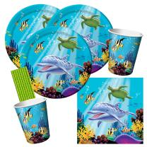 40-teiliges Party-Set Ocean Party - Ozean Party -...