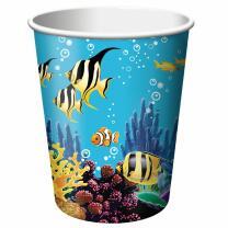 Ozean - Meerestiere - Pappbecher 0,25 l, 8 Stück