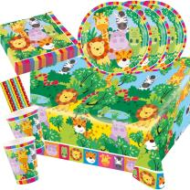 45-teiliges Party-Set Tiere - Dschungel - Jungle  -...