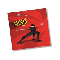 Ninja - Servietten, 20 Stück 33 x 33 cm