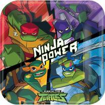 Ninja Turtles Pappteller quadratisch, 8 Stück