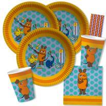44-teiliges Party-Set - Die Maus - Teller Becher...