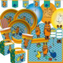 77-teiliges Party-Set - Die Maus -Teller Becher...