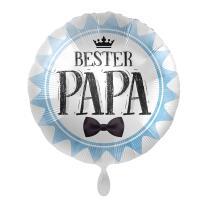 Folienballon 43 cm - Bester Papa - Fliege