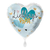 Folienballon 43 cm - Lieblingspapa - Herz
