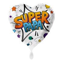 Folienballon 43 cm - Super Papa - Herz