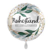 Folienballon 43 cm - Ruhestand - Herzlichen Glückwunsch