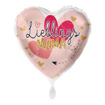 Folienballon Herz 43 cm - Lieblingsmama