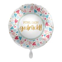 Folienballon  43 cm - Fühl dich gedrückt