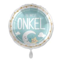Folienballon 43 cm - Du wirst Onkel - Mond Junge