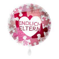 Folienballon 43 cm - Endlich Eltern - pink