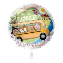 Folienballon  43 cm - Hurra Schule - Schulbus