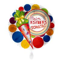 Folienballon  43 cm - Mein erster Schultag - Schultüte
