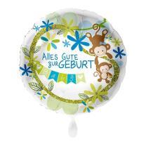 Folienballon 43 cm - Alles Gute zur Geburt - blau...